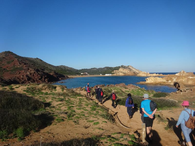 New Year walking on Menorca